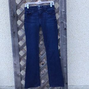 7 For All Mankind darker wash bootcut jeans